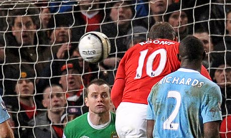 Wayne Rooney scores