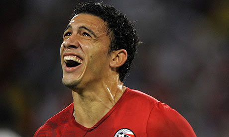 Gedo celebrates after scoring