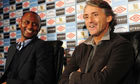 Patrick Vieira and manager Roberto Mancini