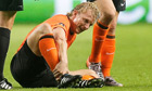 Dirk Kuyt lies injured