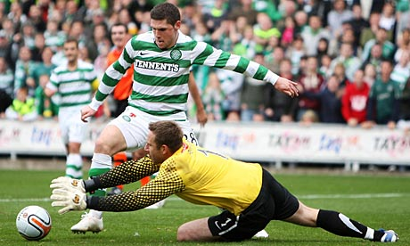 Dundee United v Celtic in the Scottish Premier League