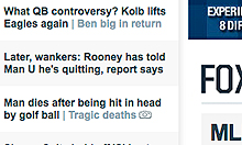 Fox Sports front page