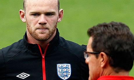 Wayne Rooney and Fabio Capello