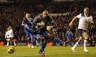 Heurelho Gomes fouls Ramires Tottenham Hotspur v Chelse