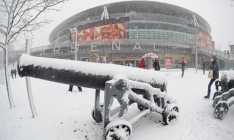 Arsenal v Stoke City postponed due to snow