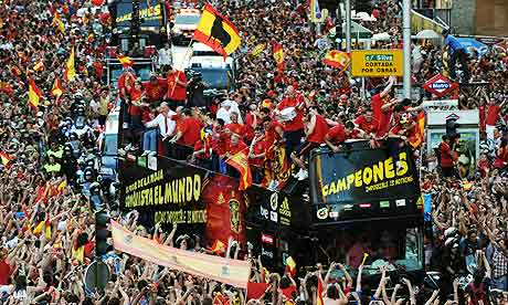 Spain's World Cup victory parade in Madrid