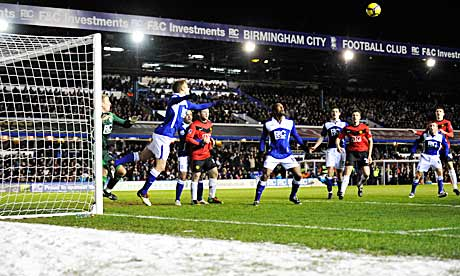 Birmingham v Manchester United in the Premier League, January 2010