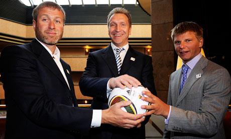 Roman Abramovich. Igor Shuvalov. Andrey Arshavin. Russia