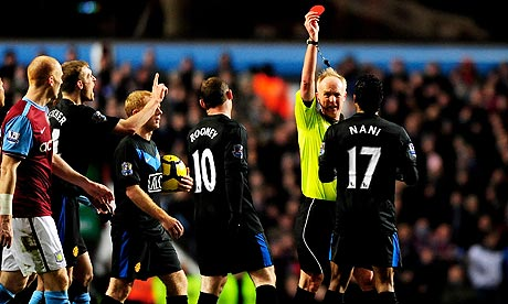 Aston Villa v Manchester United, Nani off