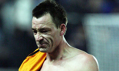 John Terry leaves the pitch