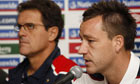 Fabio Capello, left, and John Terry
