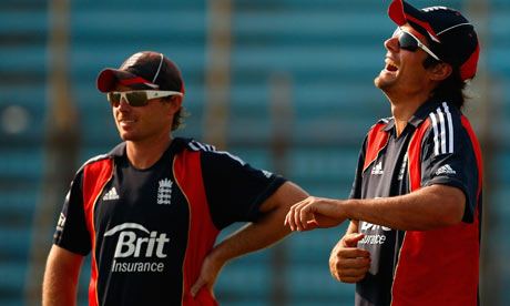 alastair cook batting. Alastair Cook, right, was in a