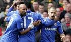 Chelsea celebrate after Joe Cole's goal