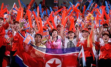 North Korean fans