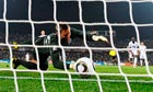 England's Robert Green concedes the USA's equaliser