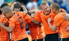 Dirk Kuyt celebrates with his team-mates