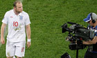 Wayne Rooney berates England's booing fans to a TV camera