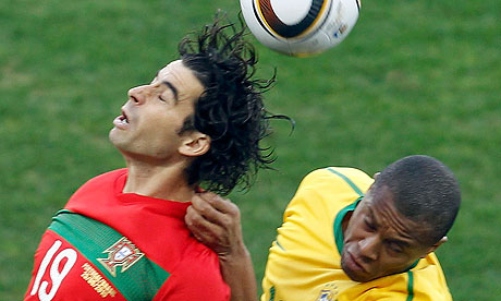 Portugal's Tiago and Brazil's Julio Baptista