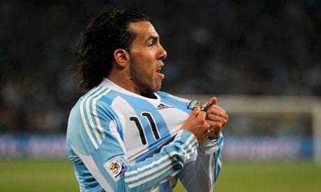 Argentina's Carlos Tevez