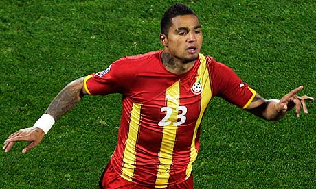 Kevin Prince Boateng During His Brief Career As A Ghana Player