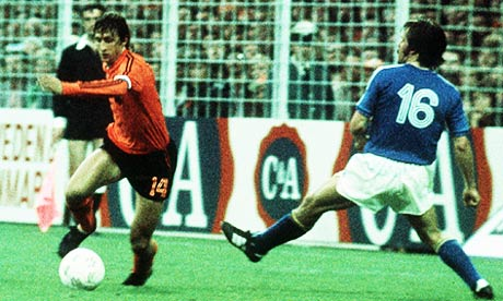 Cruyff, having just done his Turn