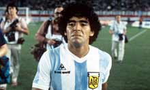 Maradona with the funk on