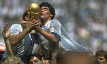 Maradona gets hot with the World Cup