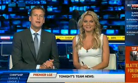 Sky Sports News presenters Ed Chamberlin and Charlotte Jackson