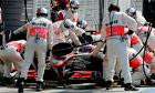 McLaren Mercedes' British driver Jenson