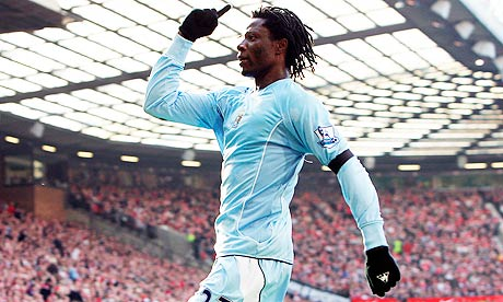 Manchester City's Benjani Mwaruwari, now of Blackburn