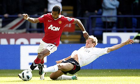 Bolton v Man United, Nani and Kevin Davies