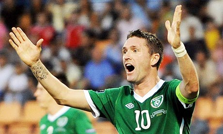 Robbie Keane con Irlanda
