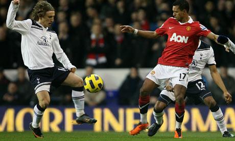 Luka Modric & Nani Tottenham Hotspur v Manchester United