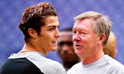 Cristiano Ronaldo with Sir Alex Ferguson in 2004, a few months after his move from Sporting Lisbon