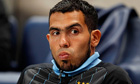 Carlos Tevez will continue to train apart from the first-team at Manchester City