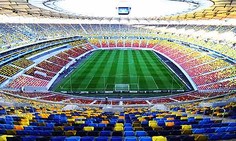 The National Stadium in Bucharest, where Otelul Galati are entertaining Manchester United