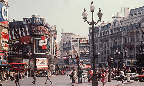 Piccadilly Circus in 1969