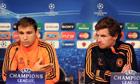 Chelsea's Branislav Ivanovic and André Villas-Boas