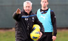 Newcastle's Alan Pardew in charge of training