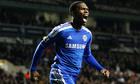 Chelsea's Daniel Sturridge celebrates making the score in their game at Tottenham Hotspur 1-1