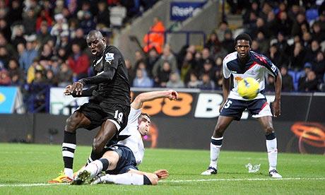 Demba Ba Bolton Wanderers Newcastle United