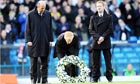 Gordon Strachan lays a wreath in memory of Gary Speed before Leeds played Millwall