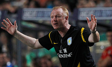 Alex McLeish Aston Villa