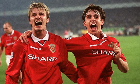 Gary Neville and David Beckham