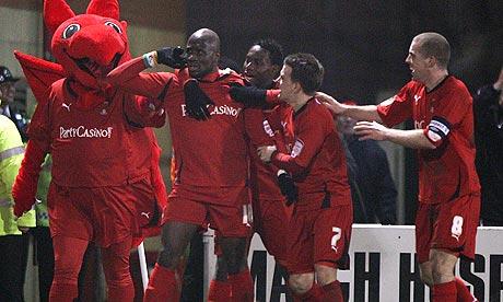 Leyton Orient's Jonathan Téhoué celebrates
