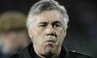 The Chelsea manager, Carlo Ancelotti