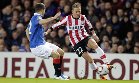 Rangers 0-1 PSV Eindhoven (PSV win 1-0 on agg) | Europa League ...