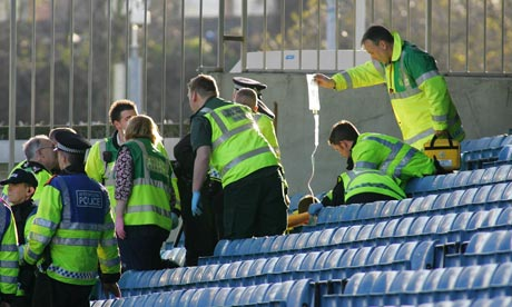 Cardiff Fan Very Lucky To Survive 20ft Fall At Millwall