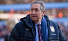 Gérard Houllier says sorry to Aston Villa fans over weakened side