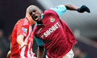 Demba Ba torments poor Stoke as West Ham climb out of relegation zone